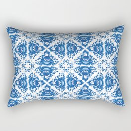 Vintage shabby Chic Seamless pattern with blue flowers and leaves Rectangular Pillow