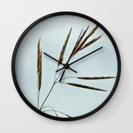 Beachgrass Seed Wall Clock