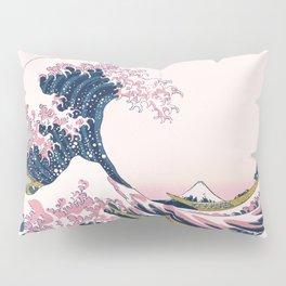 The Great Pink Wave off Kanagawa Pillow Sham
