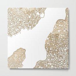 Atomic Bubbles - Natural Metal Print