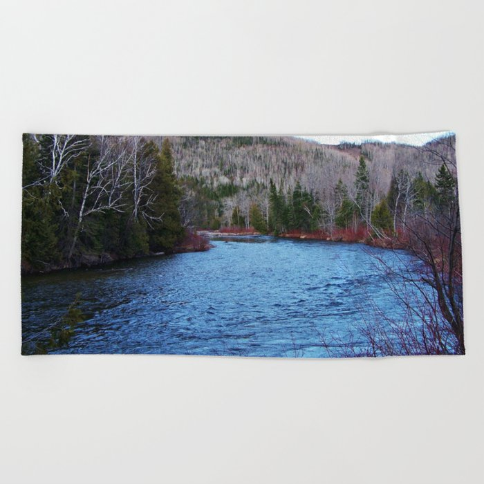 River in Nature Beach Towel