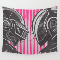daft punk Wall Tapestries featuring Daft Punk by Ren Davis