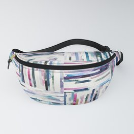 Quilted LINEA Abstract Paper Collage Fanny Pack