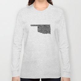 Typographic Oklahoma Long Sleeve T-shirt