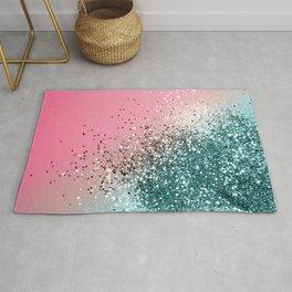 Tropical Watermelon Glitter #3 (Faux Glitter) #decor #art #society6 Rug