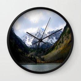 Maroon Bells Wall Clock