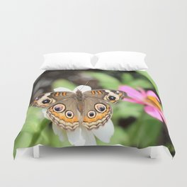 Beautiful Buckeye Butterfly Duvet Cover