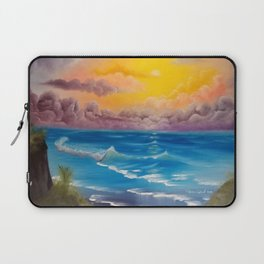 Beach Cove, Beautiful Beach, Colorful Beach, Beach Sunset, Colorful Sunset Laptop Sleeve