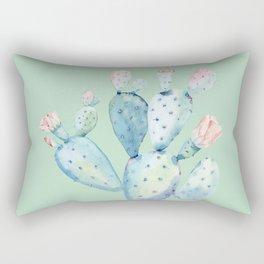 Rose Desert Cactus Light Mint Green by Nature Magick Rectangular Pillow
