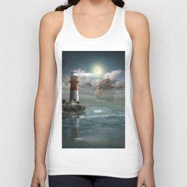Lighthouse Under Back Light Unisex Tank Top