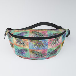Cuttlefish Patchwork Fanny Pack