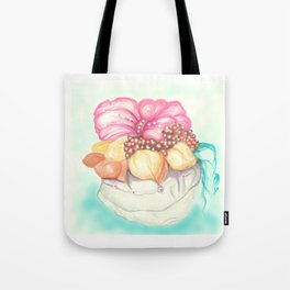 Tropical Fruit Bouquet Painting Tote Bag