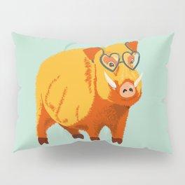 Benevolent Funny Boar Pig Pillow Sham