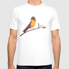 Yellow Breasted Bird MEDIUM Mens Fitted Tee White