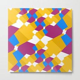 Layered shapes Metal Print