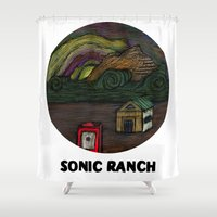 sonic Shower Curtains featuring sonic ranch by Sonic Ranch