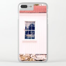 White Barn Window Clear iPhone Case