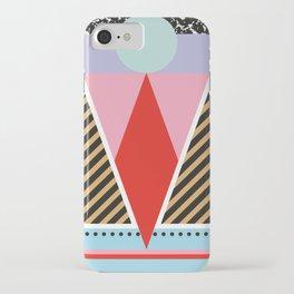 Modern Colorful Geometric Postmodern Memphis Milano Tribal iPhone Case