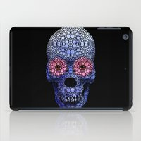 crossfit iPad Cases featuring Skull Art - Day Of The Dead 1 Stone Rock'd by Sharon Cummings