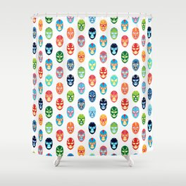 Lucha libre mask pattern Shower Curtain