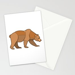 Shapely Brown Bear Stationery Cards