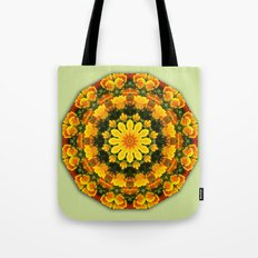 Floral mandala-style, California Poppies Tote Bag