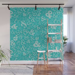 Ampersands - Turquoise Wall Mural