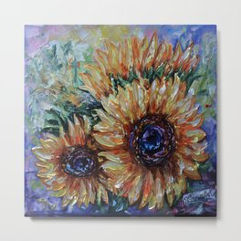 Ah, Sunflower by Lena Owens Metal Print
