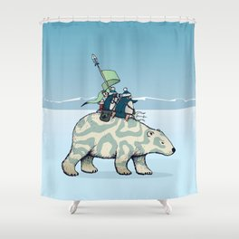 Nature warriors: From Pole to Pole Shower Curtain