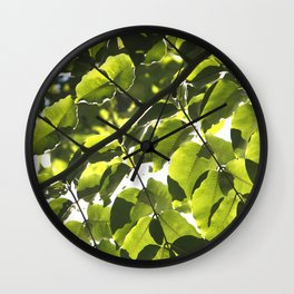Leaves IV Wall Clock