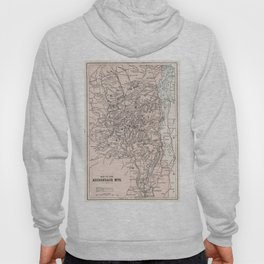 Vintage Map of The Adirondack Mountains (1901) Hoody
