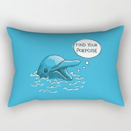 Find Your Porpoise Rectangular Pillow
