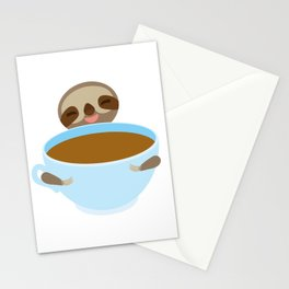 sloth & coffee Stationery Cards