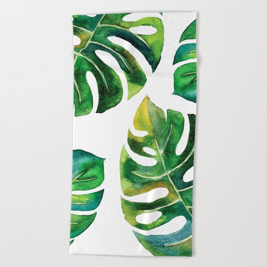 Wildness In Monstera Beach Towel