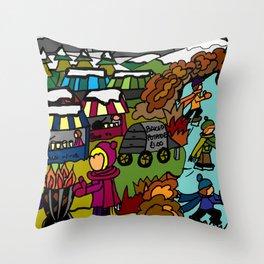 MEMORIES OF WINTER Throw Pillow