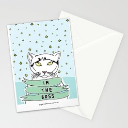 My Cat is the Boss Stationery Cards