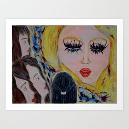 The Arian: Acrylic Painting of girls Art Print