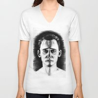 tom hiddleston V-neck T-shirts featuring Tom Hiddleston by LilKure