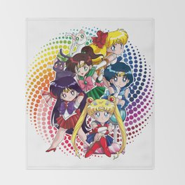 Sailor Moon - Chibi Candy (white edition) Throw Blanket