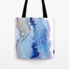 Blue Ice Arctic Abstract Tote Bag