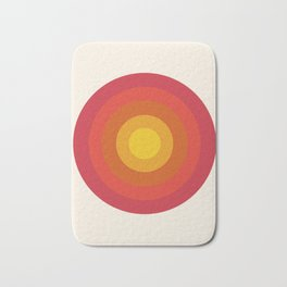 Right On - retro throwback 70s 1970s bullseye beach 70's vibes minimal art by Seventy Eight Bath Mat