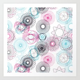 Spiro-Pattern Art Print