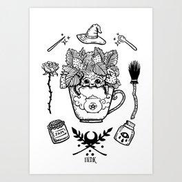 witchy strawberry mandrake Art Print