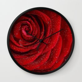 Th red rose Wall Clock