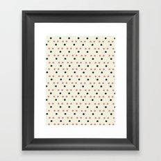 Triangle Dot Framed Art Print