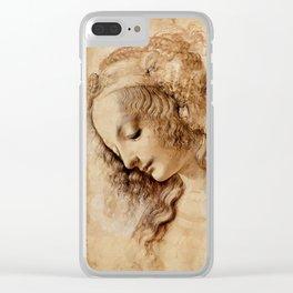 "Leonardo da Vinci ""Woman's head"" 3. Clear iPhone Case"