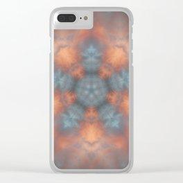 Clouds Mandala Clear iPhone Case