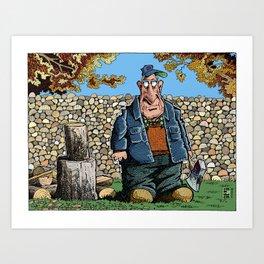 Walter's Woodpile Art Print