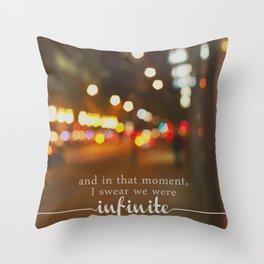 perks of being a wallflower - we were infinite Throw Pillow