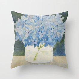 Hydrangea Sill Life Throw Pillow